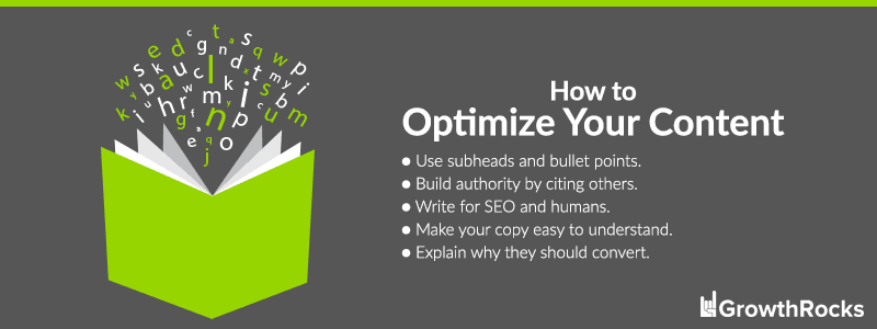 Conversion Rate Optimization for your content.