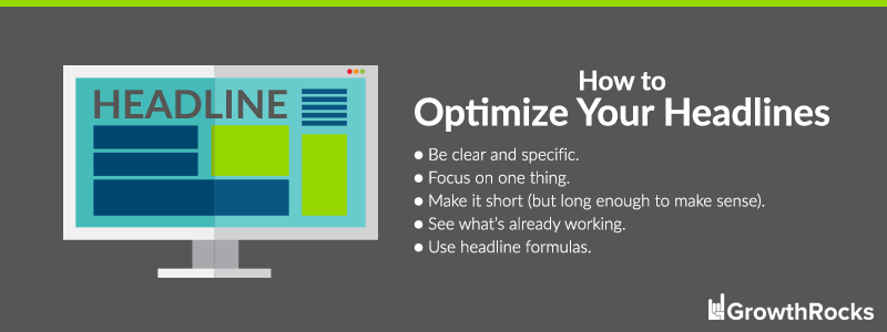 How to optimize your headlines.