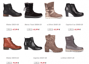 example of shoes in an eshop newsletter