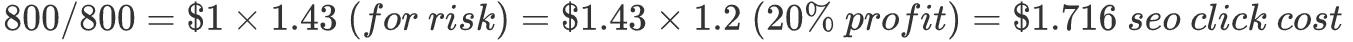 SEO Per Click Price Formula