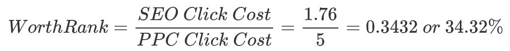WorthRank Formula