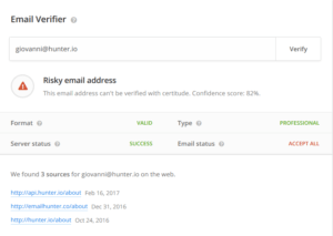 How to find anyone's email address with Email Verifier in Email Hunter