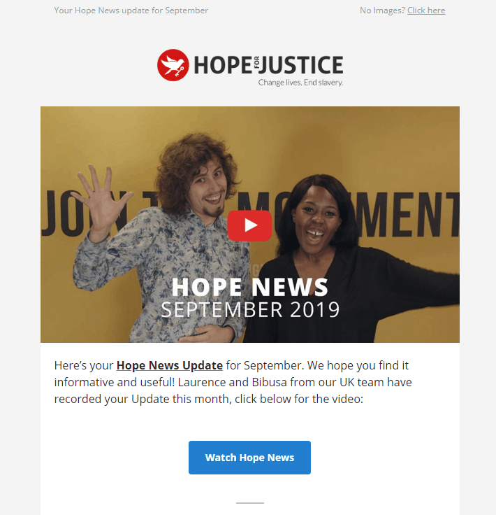 Video Image by Hope for Justice