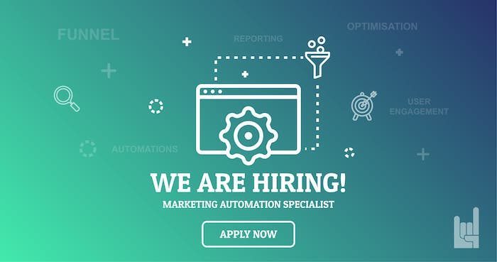 WeAreHiring Marketing automation Specialist 10